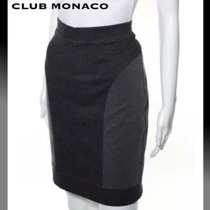 CLUB MONACO Classy Blk/Gray Stretch Pencil Skirt